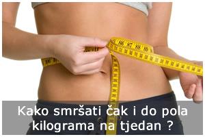 Kako smršati i do pola kilograma na tjedan ?
