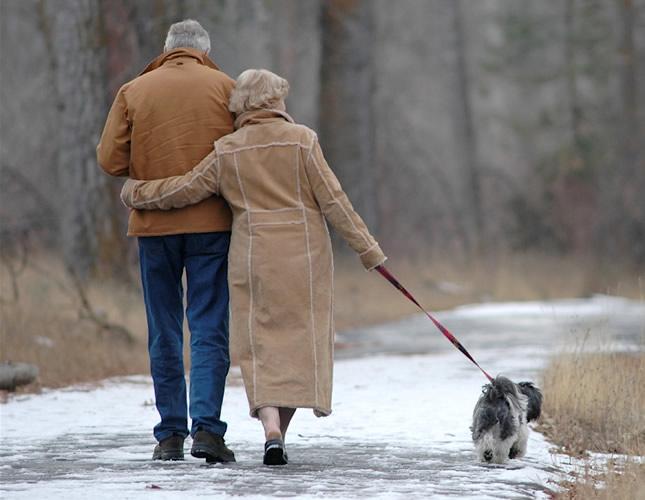 šetnja po hladnoći