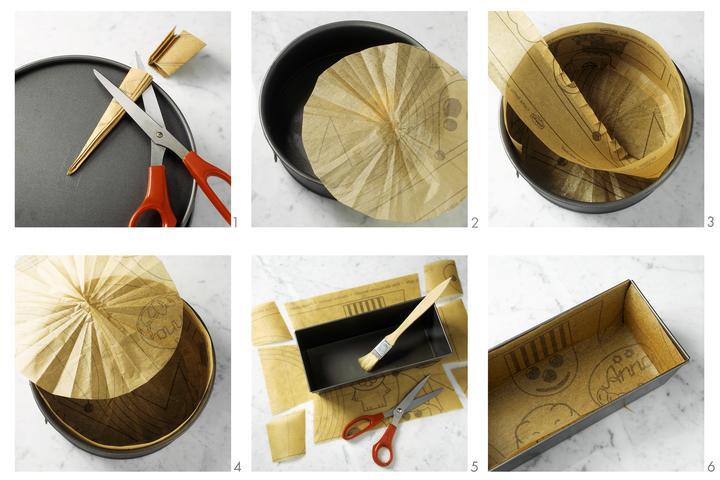kako staviti papir za pecenje u kalup